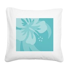 Aqua Mousepad Square Canvas Pillow