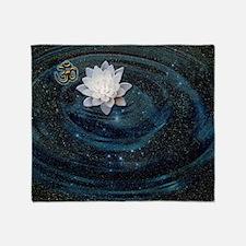 OM Lotus Throw Blanket