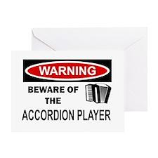 Accordion Player Greeting Card