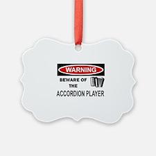 Accordion Player Ornament