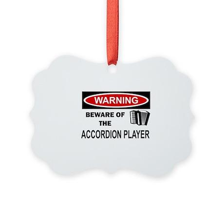 Accordion Player Picture Ornament