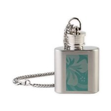 Aqua 3 X 5 Area Rug Flask Necklace