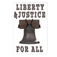 Liberty Bell with Liberty Postcards (Package of 8)