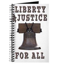 Liberty Bell with Liberty and Justice for  Journal