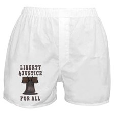 Liberty Bell with Liberty and Justice Boxer Shorts