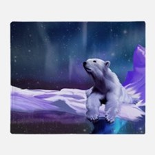 Contemplative Polar Bear Throw Blanket
