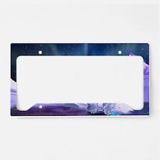 Contemplative Polar Bear License Plate Holder