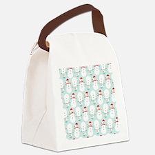 Cute Snowmen Canvas Lunch Bag