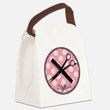 stylist pendant 2013 pink Canvas Lunch Bag