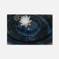 OM Lotus Rectangle Magnet