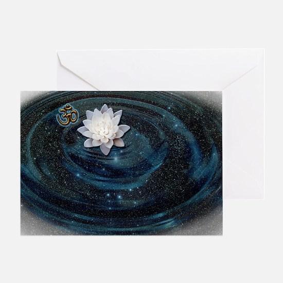 OM Lotus Greeting Card