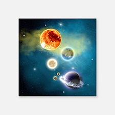"New Solar System Queen duve Square Sticker 3"" x 3"""