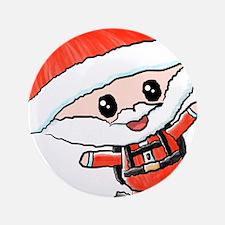 """Skydiving Santa 3.5"""" Button"""