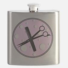 stylist 1 round pink Flask