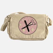 stylist 1 round pink Messenger Bag