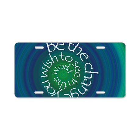 Be the Change Aluminum License Plate