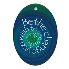 Be the Change Oval Ornament