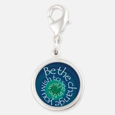 Be the Change Silver Round Charm