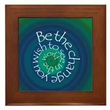 Be the Change Framed Tile