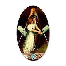 Freemasons True Love on the  35x21 Oval Wall Decal