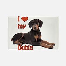 I heart my Doberman Rectangle Magnet