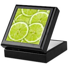 Lime Slices Keepsake Box