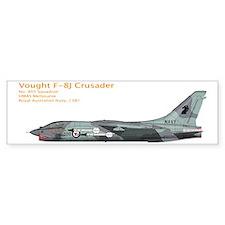 RAN Vought F-8J Crusader 1981 Bumper Sticker