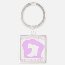 Yoga Girls are Twisted Square Keychain