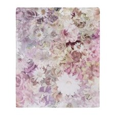 Pretty Flowers Throw Blanket