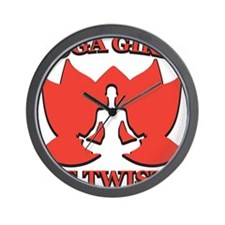 Yoga Girls are Twisted Wall Clock