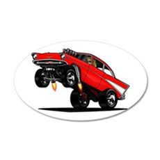 57 Gasser Wheelie Wall Decal