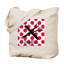 stylist SQUARE RED PENDANT Tote Bag