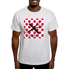 stylist SQUARE RED PENDANT T-Shirt