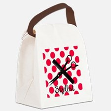 stylist SQUARE RED PENDANT Canvas Lunch Bag