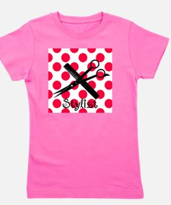 stylist SQUARE RED PENDANT Girl's Tee