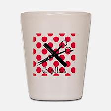 stylist SQUARE RED PENDANT Shot Glass