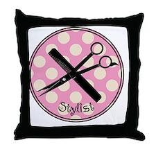 stylist pendant 2013 pink Throw Pillow