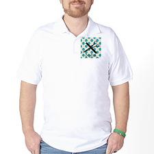Stylist Square BLUE PENDANT T-Shirt