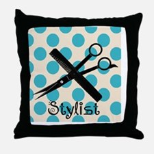 Stylist Square BLUE PENDANT Throw Pillow