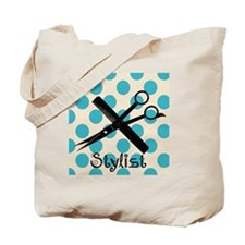 Stylist Square BLUE PENDANT Tote Bag