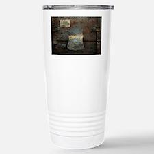 ANTIQUE steamer TRUNK Travel Mug