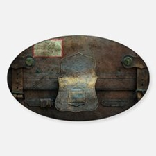 ANTIQUE steamer TRUNK Decal