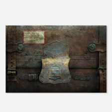 ANTIQUE steamer TRUNK Postcards (Package of 8)