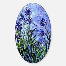 Monet - Lilacs and Irises, Floral p Sticker (Oval)