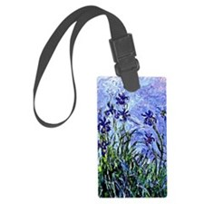Monet - Lilacs and Irises, Flora Luggage Tag