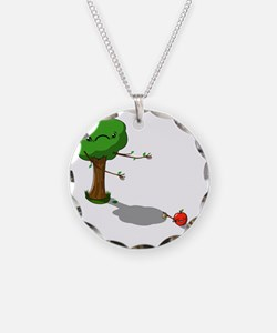 The apple doesnt fall far fr Necklace Circle Charm