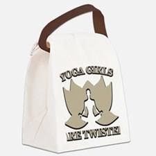 Yoga Girls are Twisted Canvas Lunch Bag