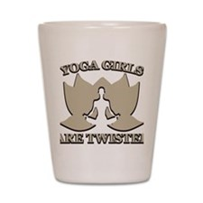 Yoga Girls are Twisted Shot Glass