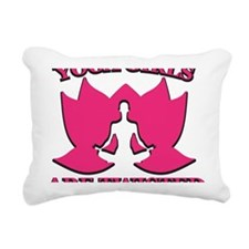 Yoga Girls are Twisted Rectangular Canvas Pillow