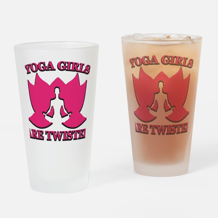 Yoga Girls are Twisted Drinking Glass